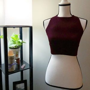 Betsey Johnson Maroon Sports Bra